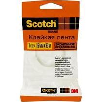 Клейкая лента Scotch Эконом прозрачная 15мм.х33м.