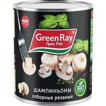 Консерва овощная Green Ray шампиньоны резаные отборные