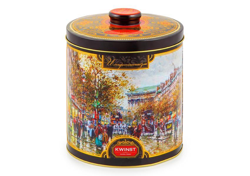 Чай черный Kwinst Шкатулка Утро в Париже красная 300 гр