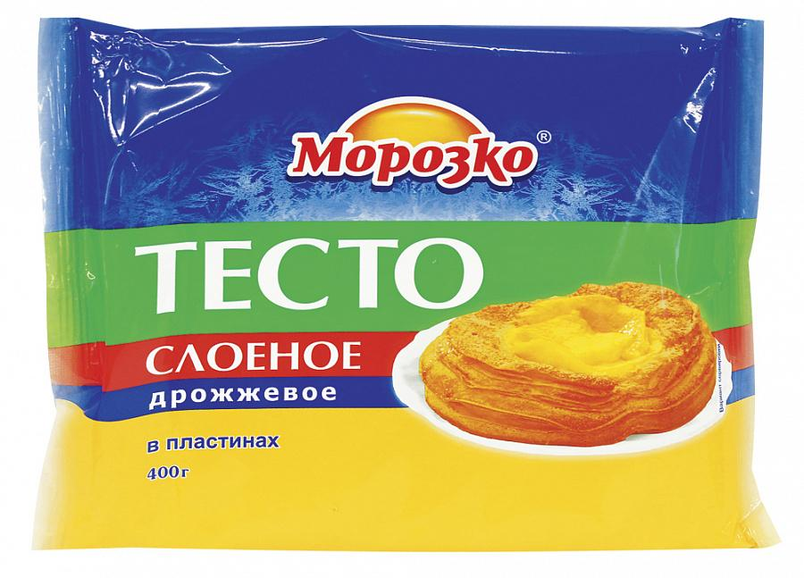 Тесто слоеное дрожжевое (пластины), МОРОЗКО