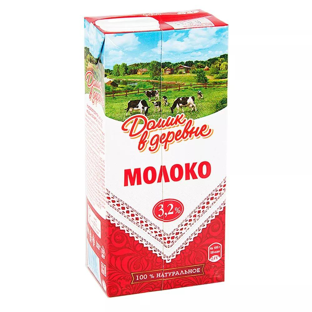 Молоко Домик в деревне 3,2%, Россия