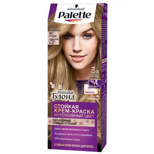 Крем-краска для волос Palette Русый №N7