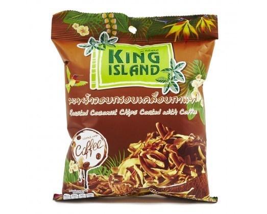 Кокосовые чипсы King Island в кофейной глазури
