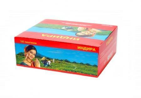 Чай Индира индийский черный 100 пак.