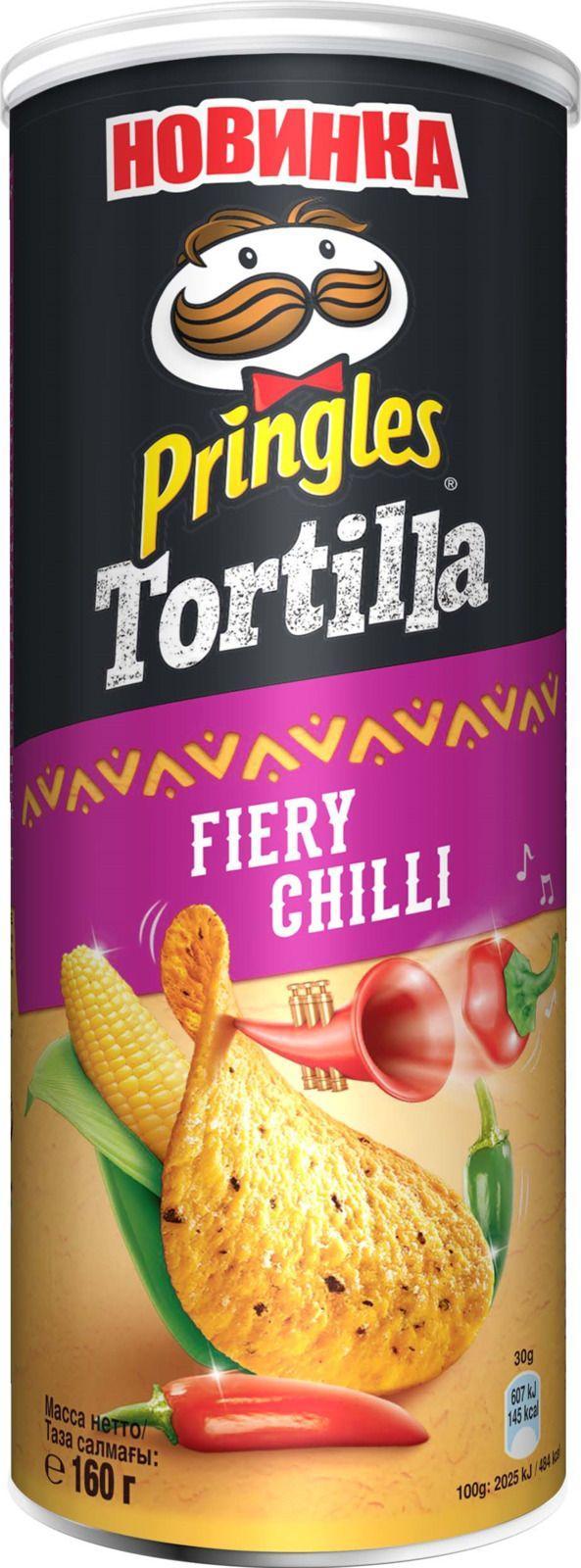 Чипсы Pringles Tortilla кукурузные со вкусом острого перца чили