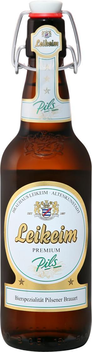 Пиво LEIKEIM PREMIUM светлое фильтрованное 4,9%