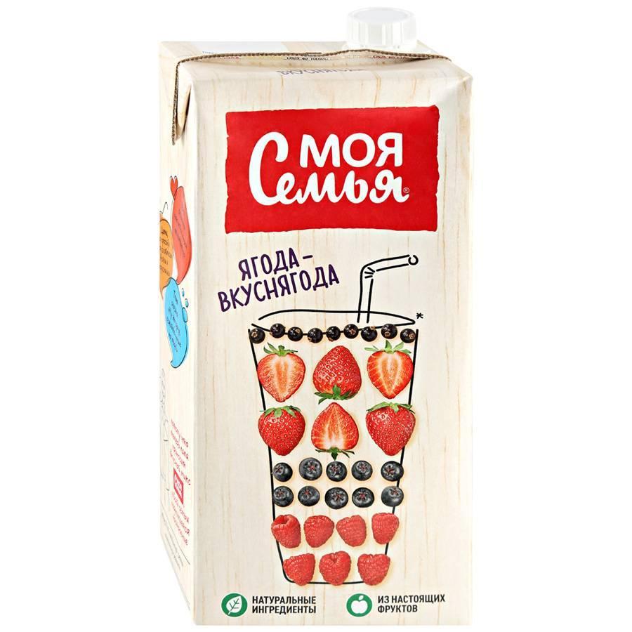 Напиток сокосодержащий Моя Семья фруктово-ягодный