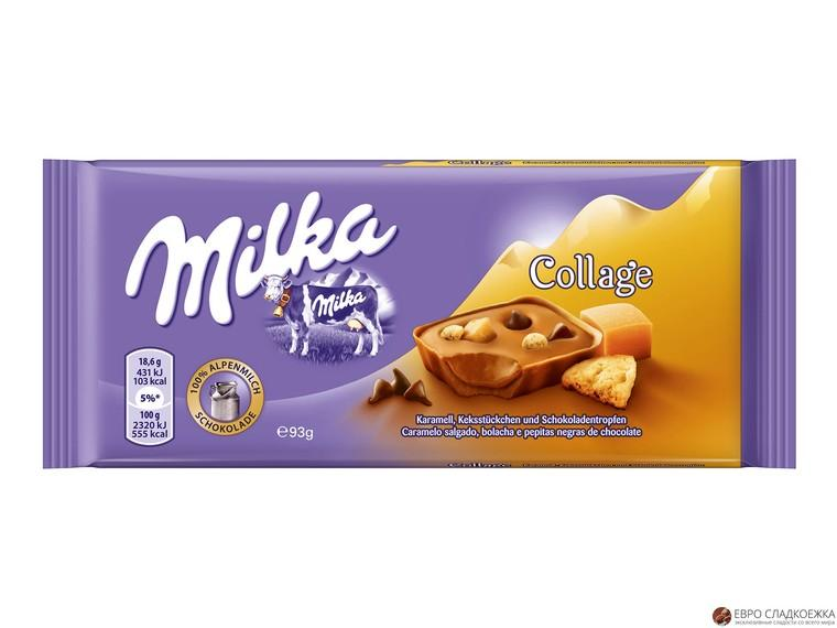 Шоколад Milka Collage Karamell