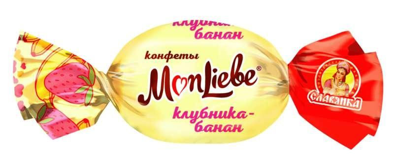 Конфеты Славянка MonLiebe суфле со вкусом банан-клубника