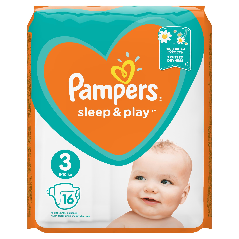 Подгузники Pampers Sleep&play 4-9кг. 16шт.