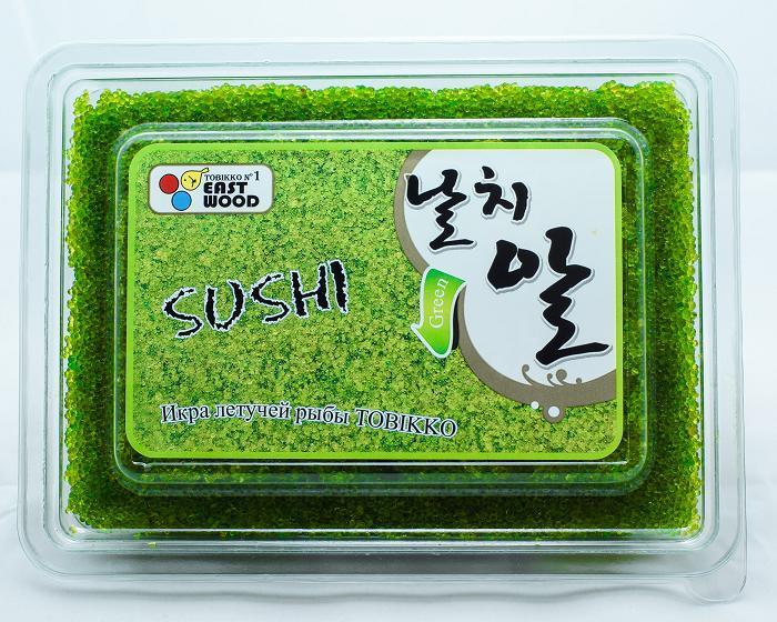 """Икра летучей рыбы """"Суши Тобико"""" зелёная (500г/уп)"""