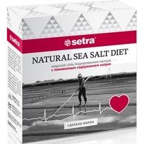 Соль Setra пищевая морская с пониженным содержанием натрия