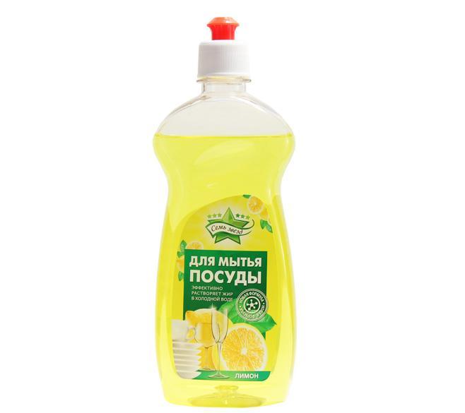 Средство для мытья посуды Семь звезд Лимон