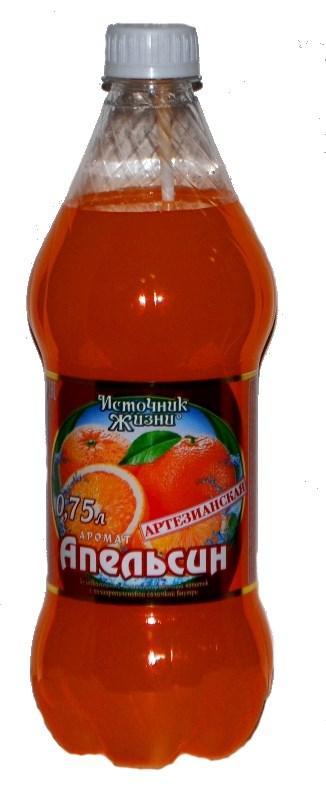 Напиток Источник жизни газированный безалкогольный апельсин