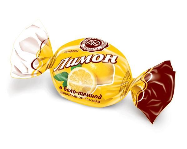 Конфеты Микаелло Лимон в бело-темной шоколадной глазури