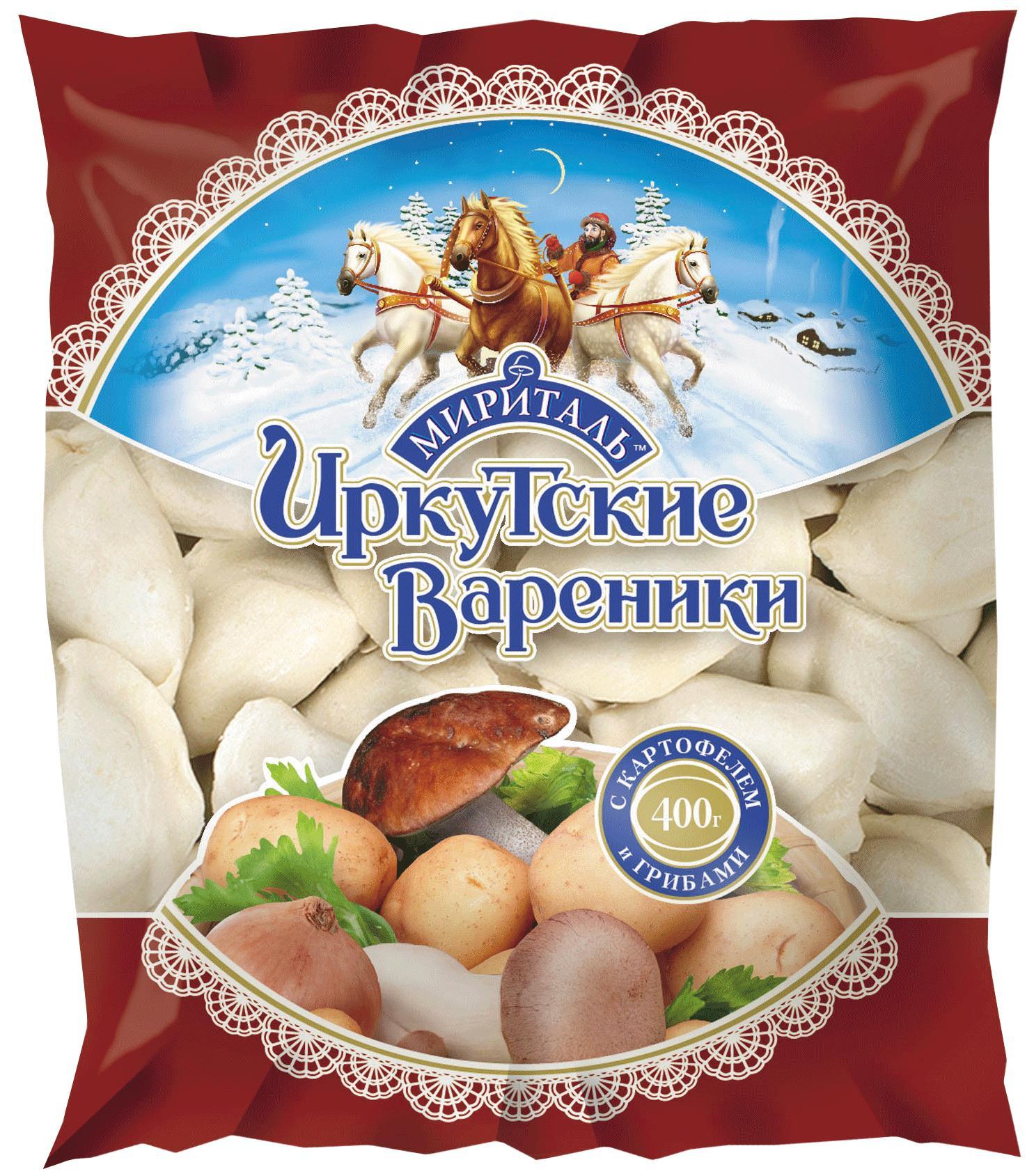 Варенники Мириталь Иркутские с картофелем и грибами