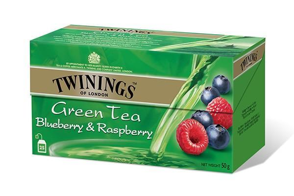 Чай Twinings Зеленый с черникой,малиной
