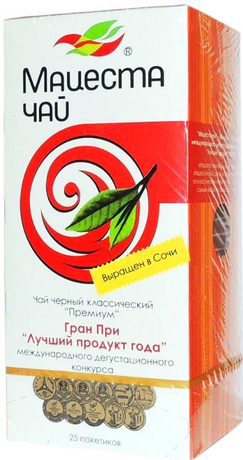 Чай Matsesta Tea Премиум черный классический в пакетиках