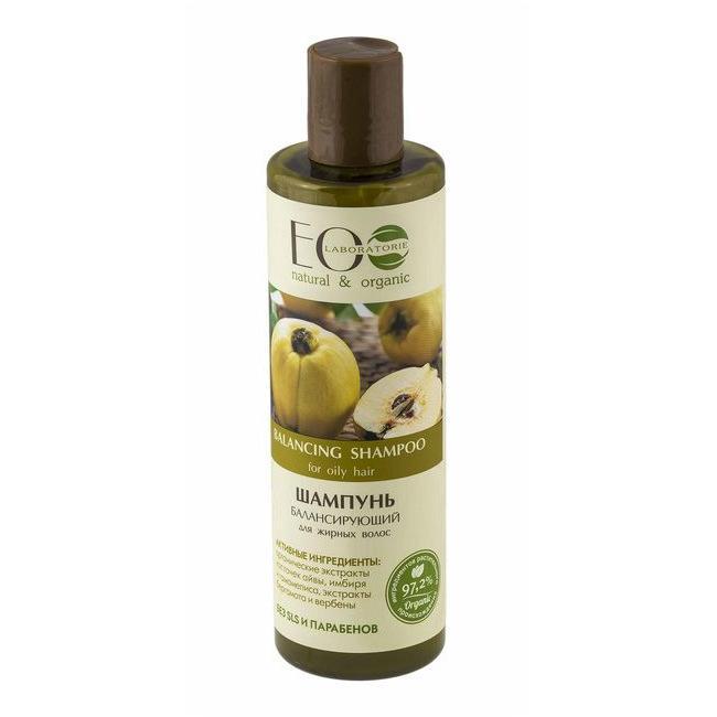 Шампунь для жирных волос балансирующий EcoLab 250 мл., Пластиковая бутылка