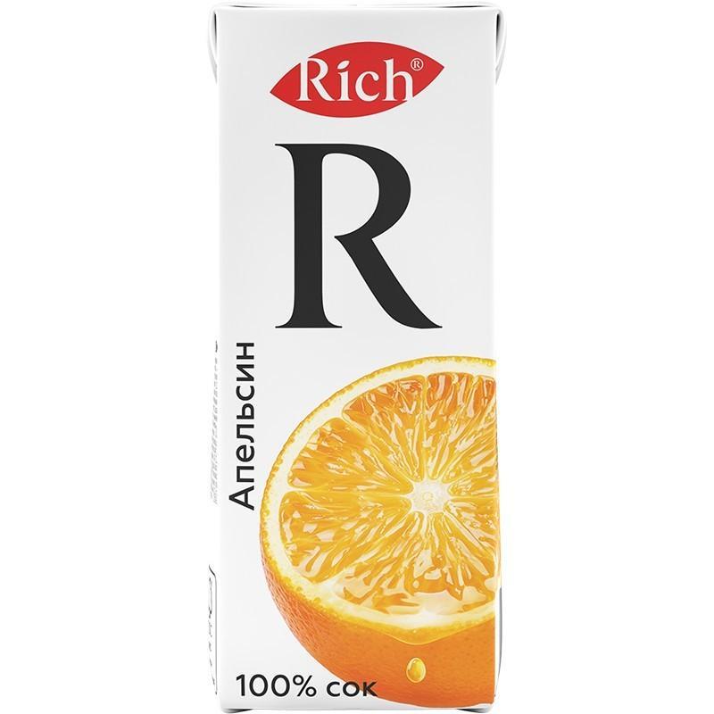 Сок Rich Апельсин 0,2 л.