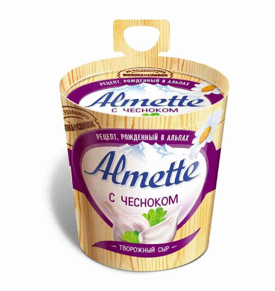 Сыр Almette творожный с чесноком 60%