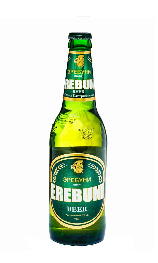 Пиво Erebuni светлое фильтрованное пастеризованное 4,8%