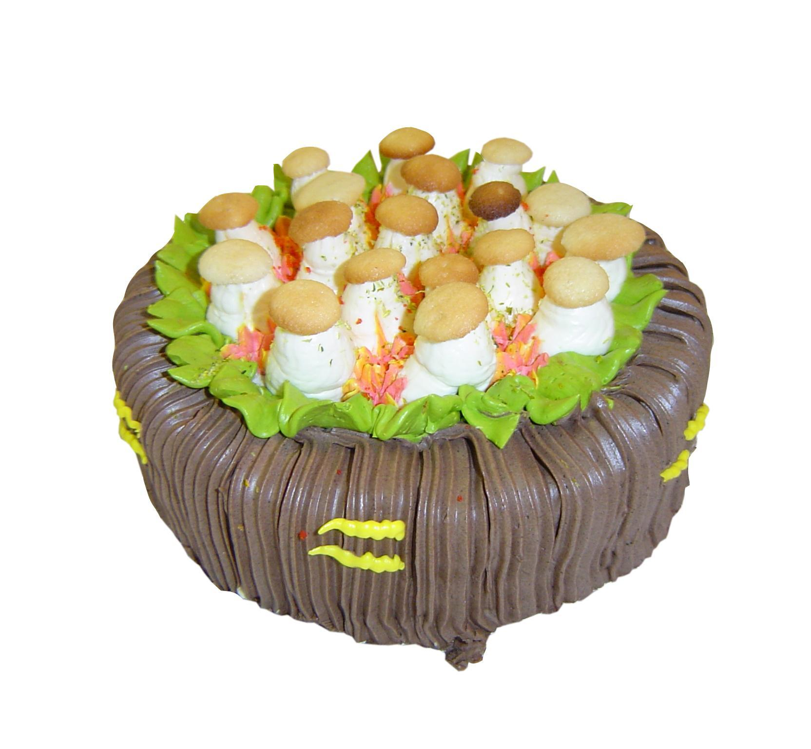 Торт Медовик Лукошко с грибами по-нижегородски