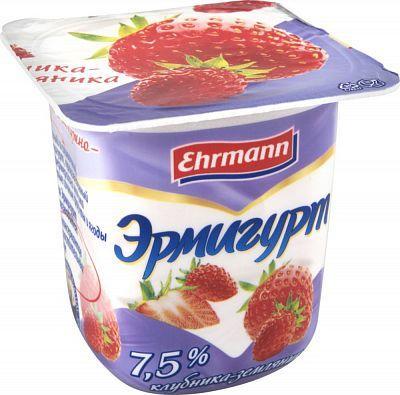 Йогуртный продукт Ehrmann Эрмигурт 3,2% Клубника Земляника