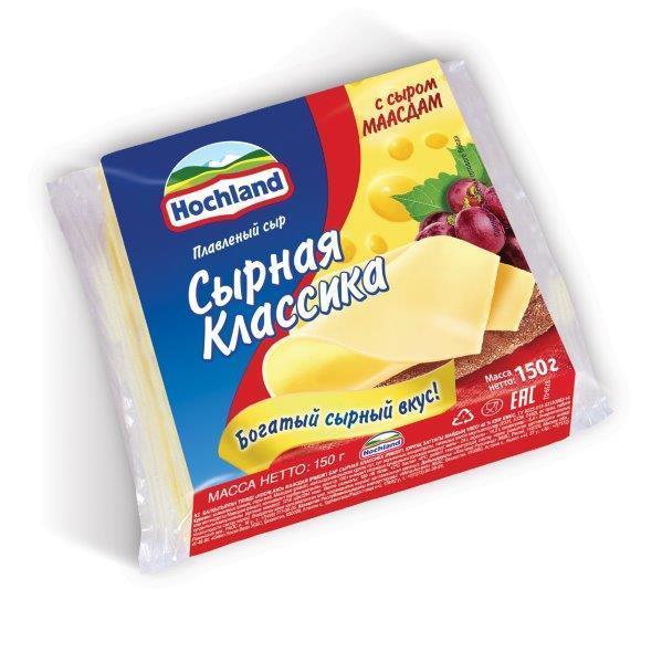 Сыр плавленый Hochland Маасдам ломтики