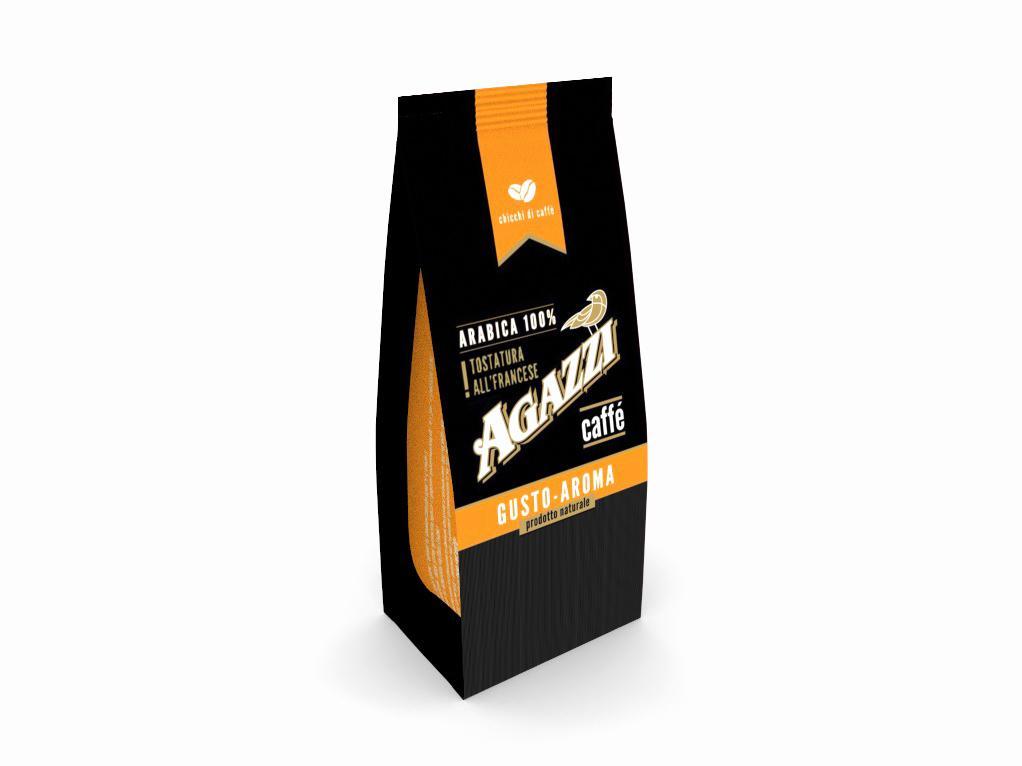 Кофе Agazzi Gusto-Aroma в зернах 200 г.
