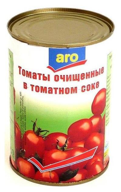 Томаты Aro Очищенные В томатном соке