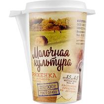 Ряженка Молочная Культура 3,5-4,5% 500 мл