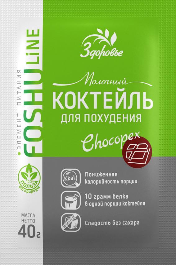 Коктейль молочный Здоровье Chocopex Для похудения