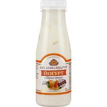 Йогурт питьевой Б.Ю. Александров Персик-груша 1,5%, п/б 290 гр.
