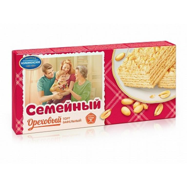 Торт Коломенское Семейный вафельный ореховый