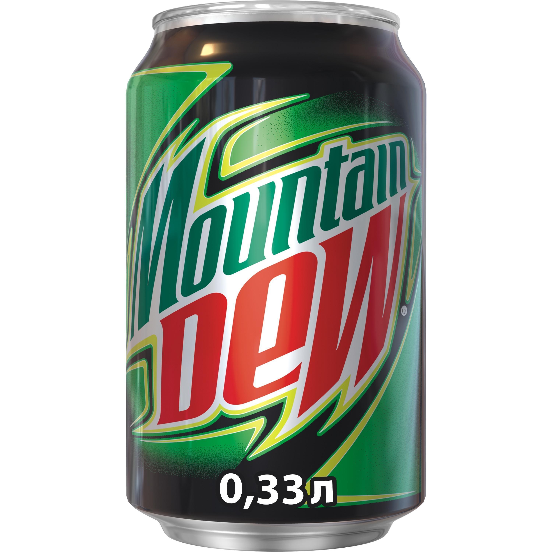 Напиток безалкогольный сильногазированный Mountain Dew 0,33 л.