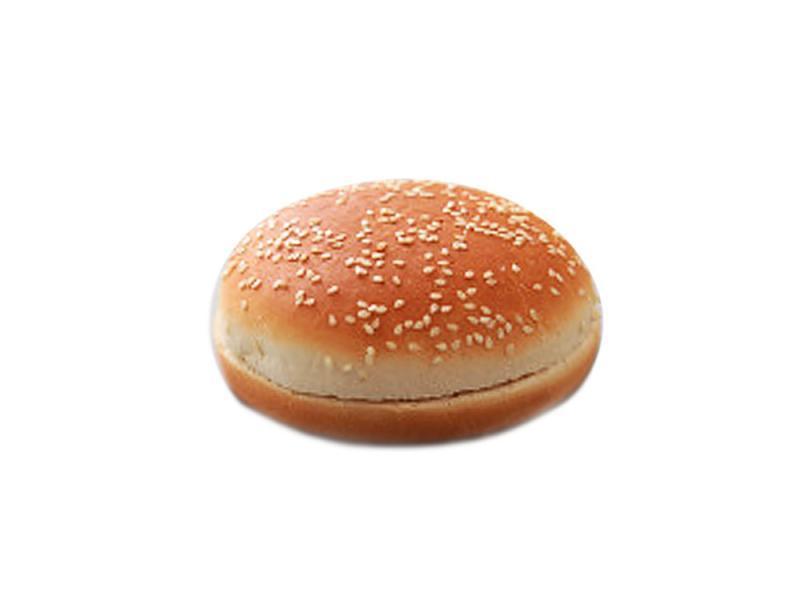 Булка для гамбургера без кунжута 125 мм.