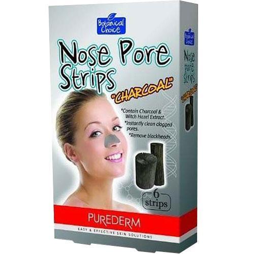 Очищающая полоска для носа PureDerm Noise Pore Strips Charcoal Древесный уголь,6 шт.