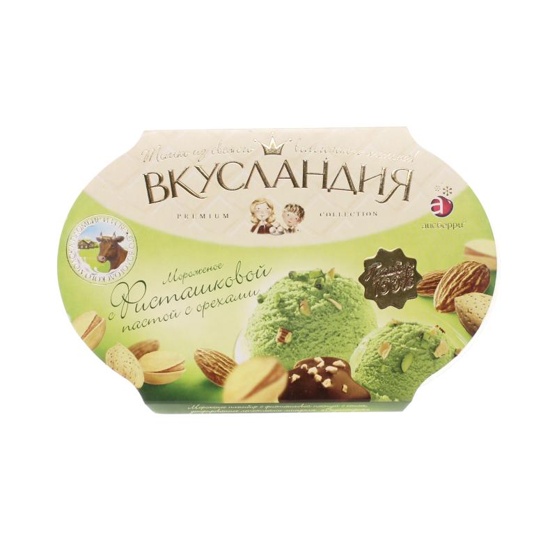 Мороженое Айсберри Вкусландия Фисташковое с миндалем