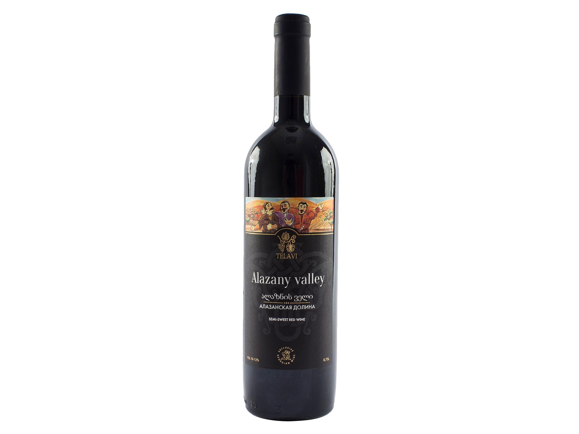 Вино Алазанская Долина столовое красное полусладкое