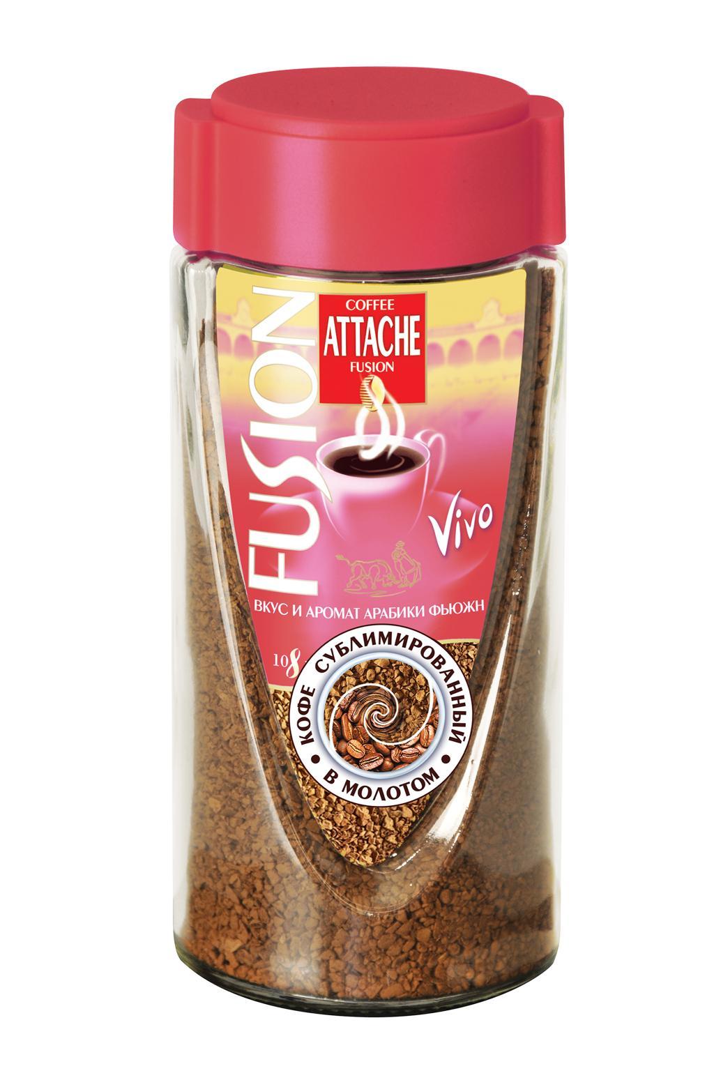 Кофе Attache Fusion Vivo растворимый 108 гр.
