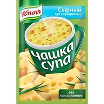 Суп-пюре Knorr Чашка супа сырный с сухариками быстрого приготовления