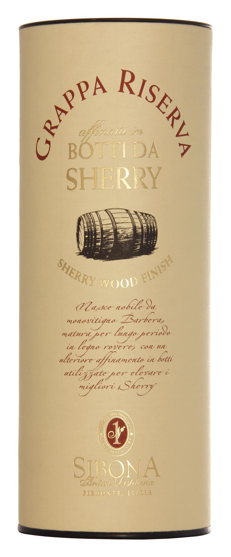 Граппа Sibona Riserva Sherry Wood Finish 44%