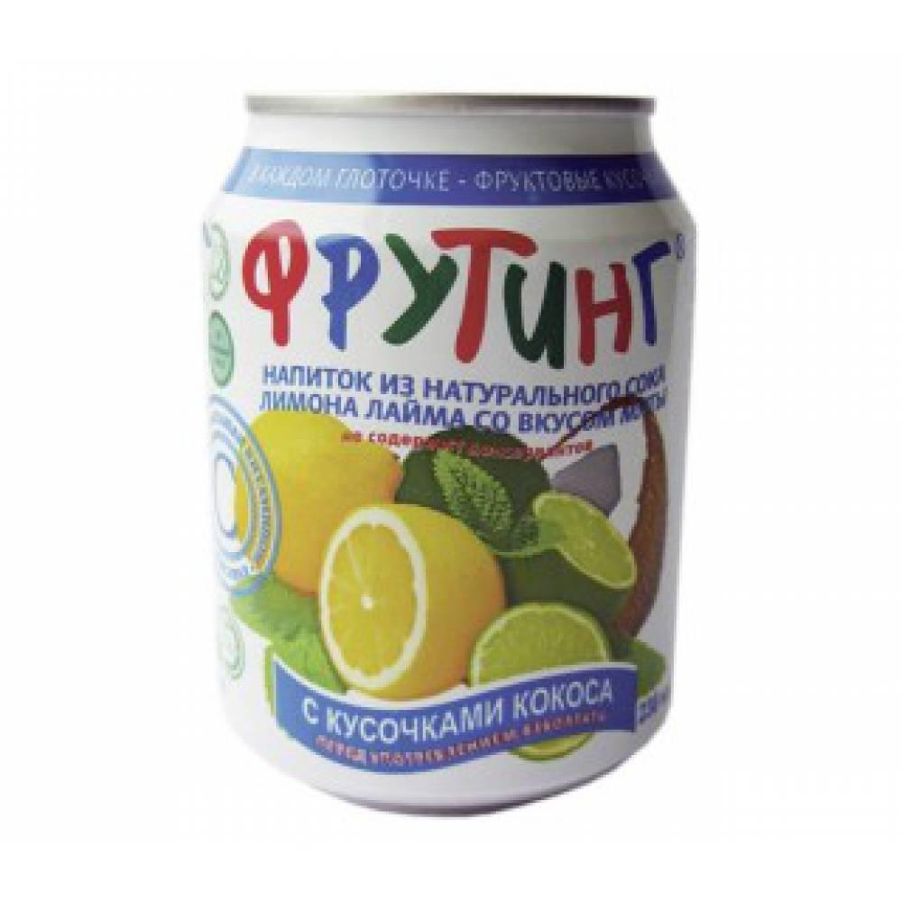 Напиток Фрутинг на основе сока из лимона и лайма со вкусом мяты