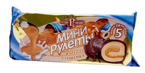 Мини-рулет Русский Бисквит Вареная сгущенка