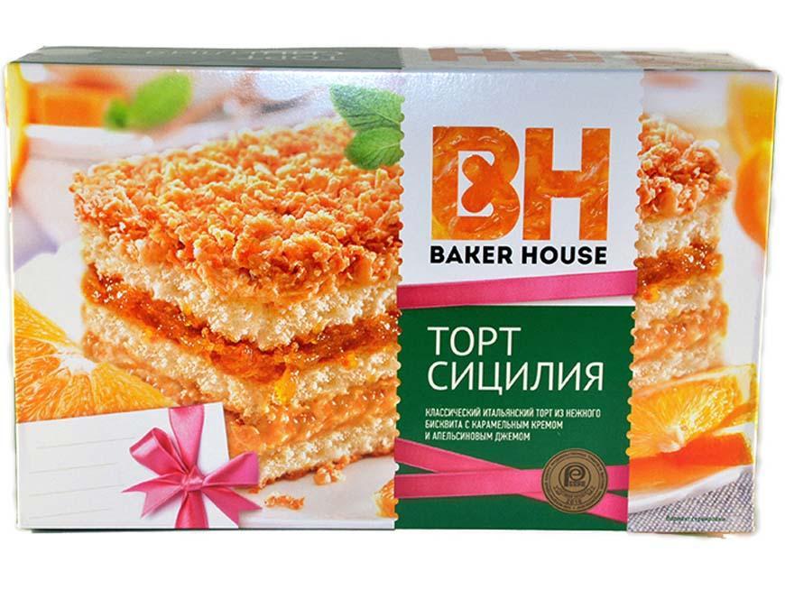 Торт Baker House Сицилия клубничный бисквитный