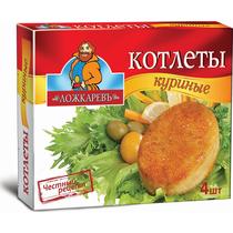 Котлеты куриные Ложкаревъ в панировке замороженные 335 г