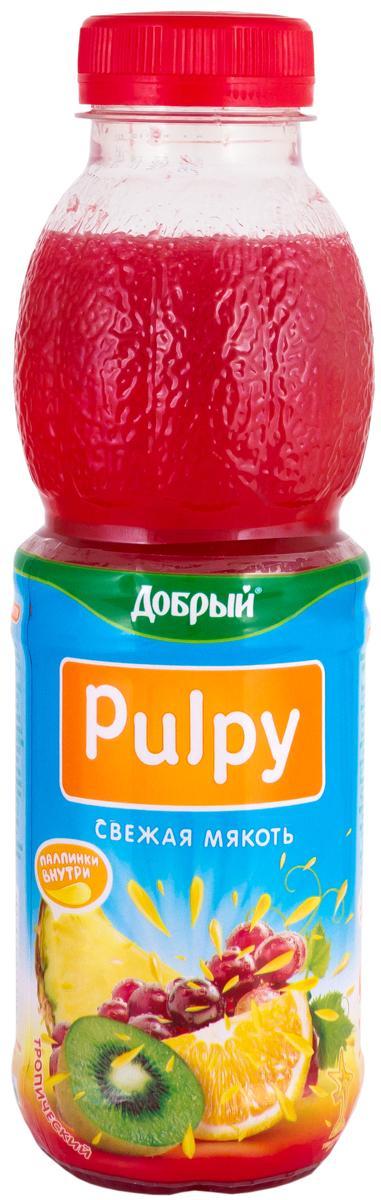 Сок Тропик Pulpy Добрый, 450 мл., Пластиковая бутылка