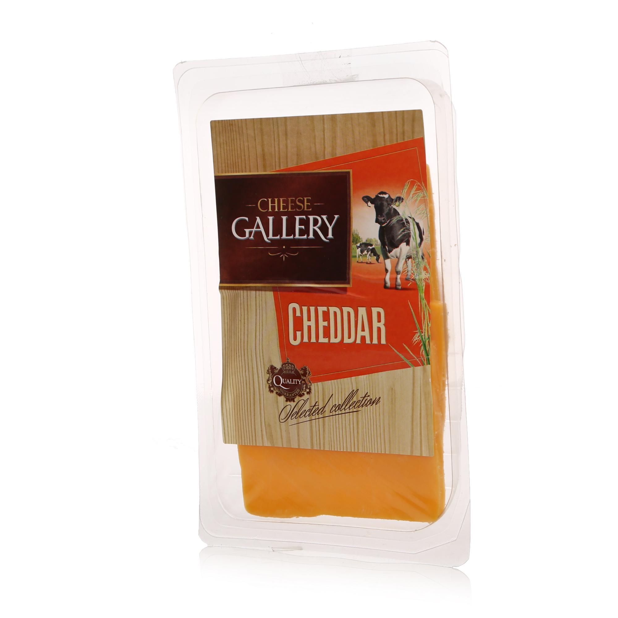 Сыр Cheese Gallery Чеддер красный 45% нарезка