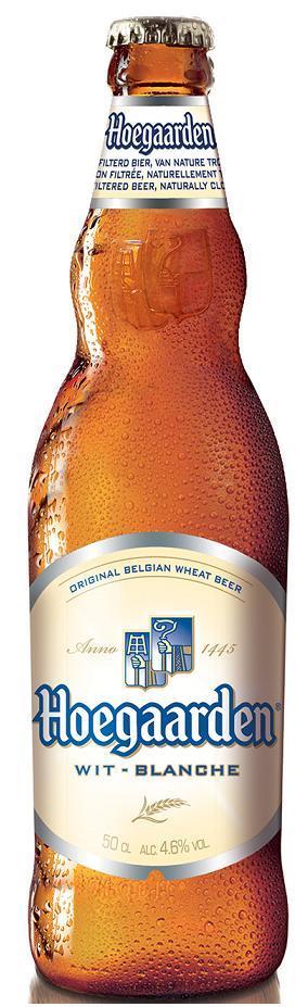 Пивной напиток Hoegaarden Blanche белый осветленный пастеризованный нефильтрованный в стекле 4,9%, 470мл